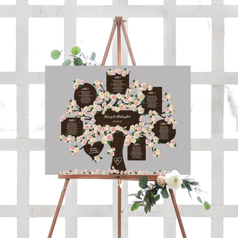 Wedding Tree Table Plan Printable Tree Seating Plan Templates image 0