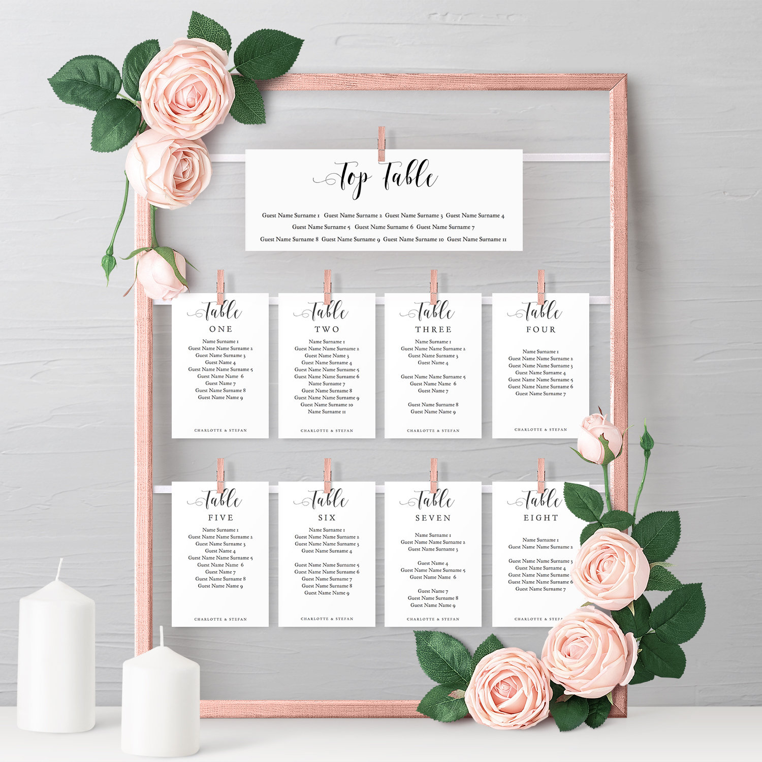 Make A DIY Hanging Seating Chart Frame With These