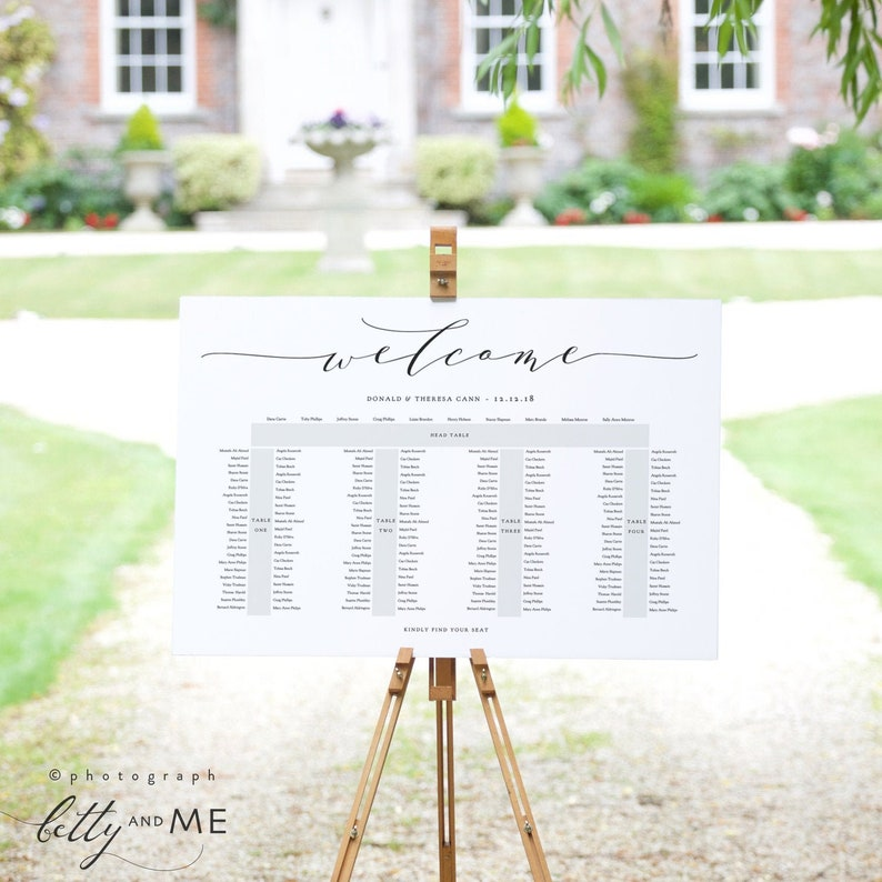 Banquet Seating Chart 5 Long Tables Head Top Table plus 4 image 0