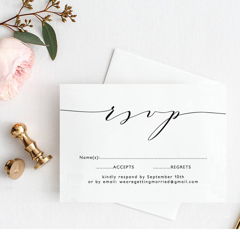 wedding rsvp template printable wedding rsvp wedding edit in word