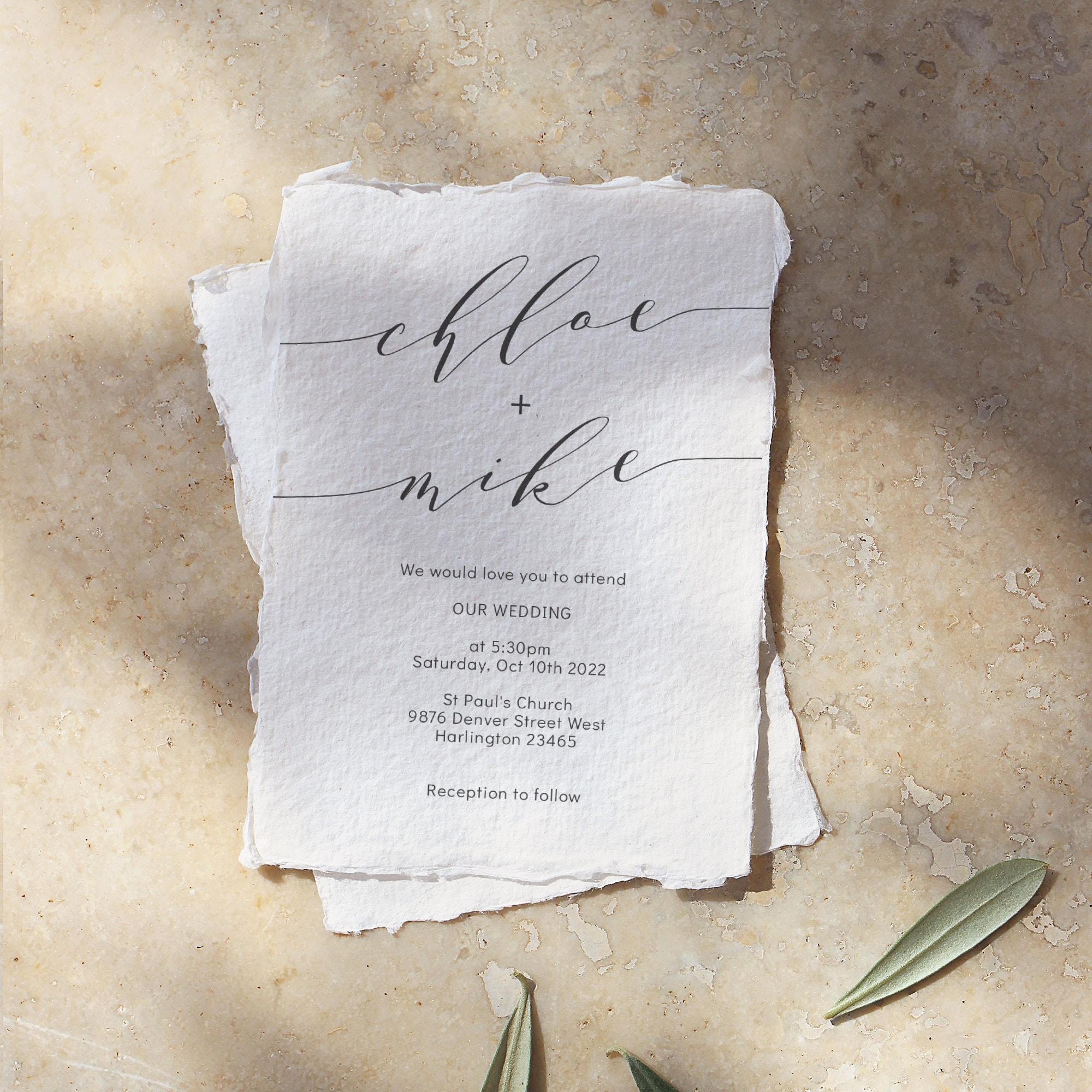 Romantic - Elegant Wedding Invitations, Modern Wedding Invitation