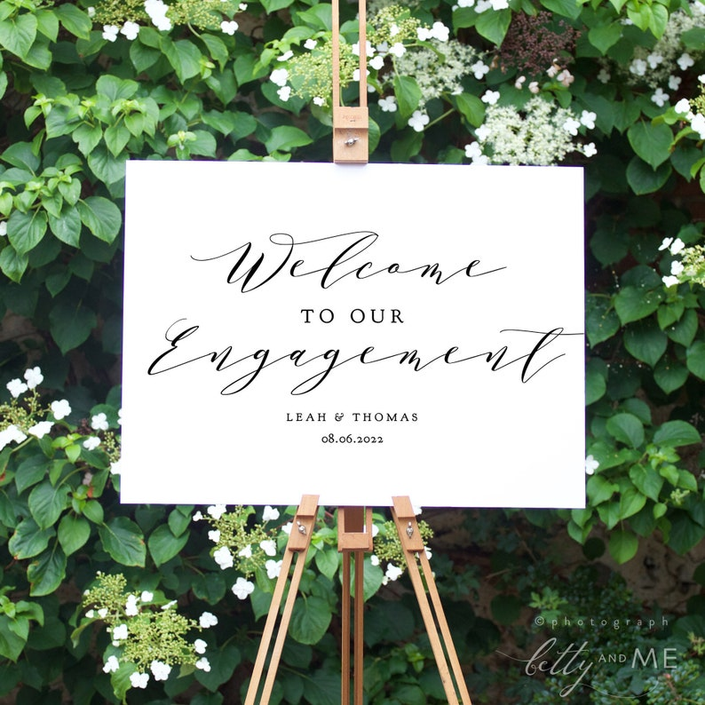Welcome Engagement Sign Printable Welcome to Our Engagement image 0