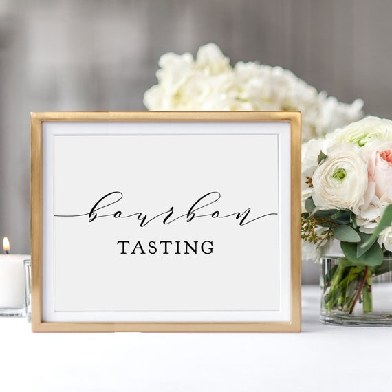 "Bourbon Tasting Sign, Printable Bourbon Tasting Sign, Instantly download Print. 8x10"", Wedding sign ""Wedding"", Download and Print"