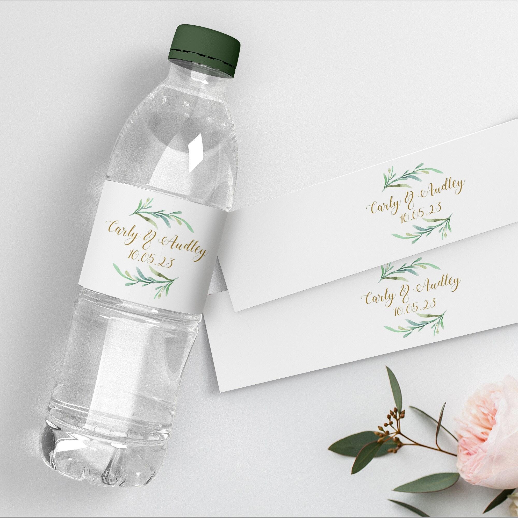 Water Bottle Label Diy Printable Wedding Water Bottle Labels 2 Greenery Printable Bottle Label Template Corjl Template Free Demo
