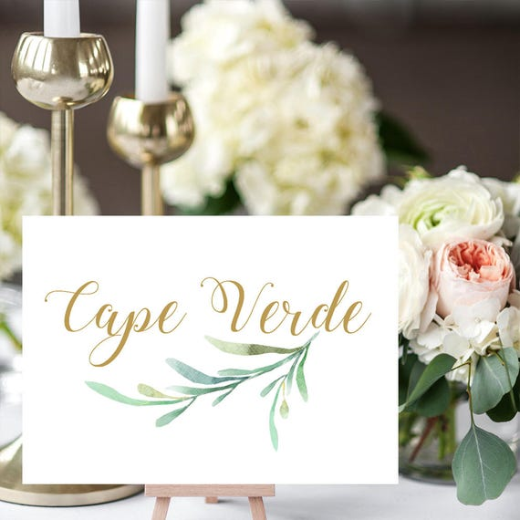 greenery wedding table names template printable reception etsy