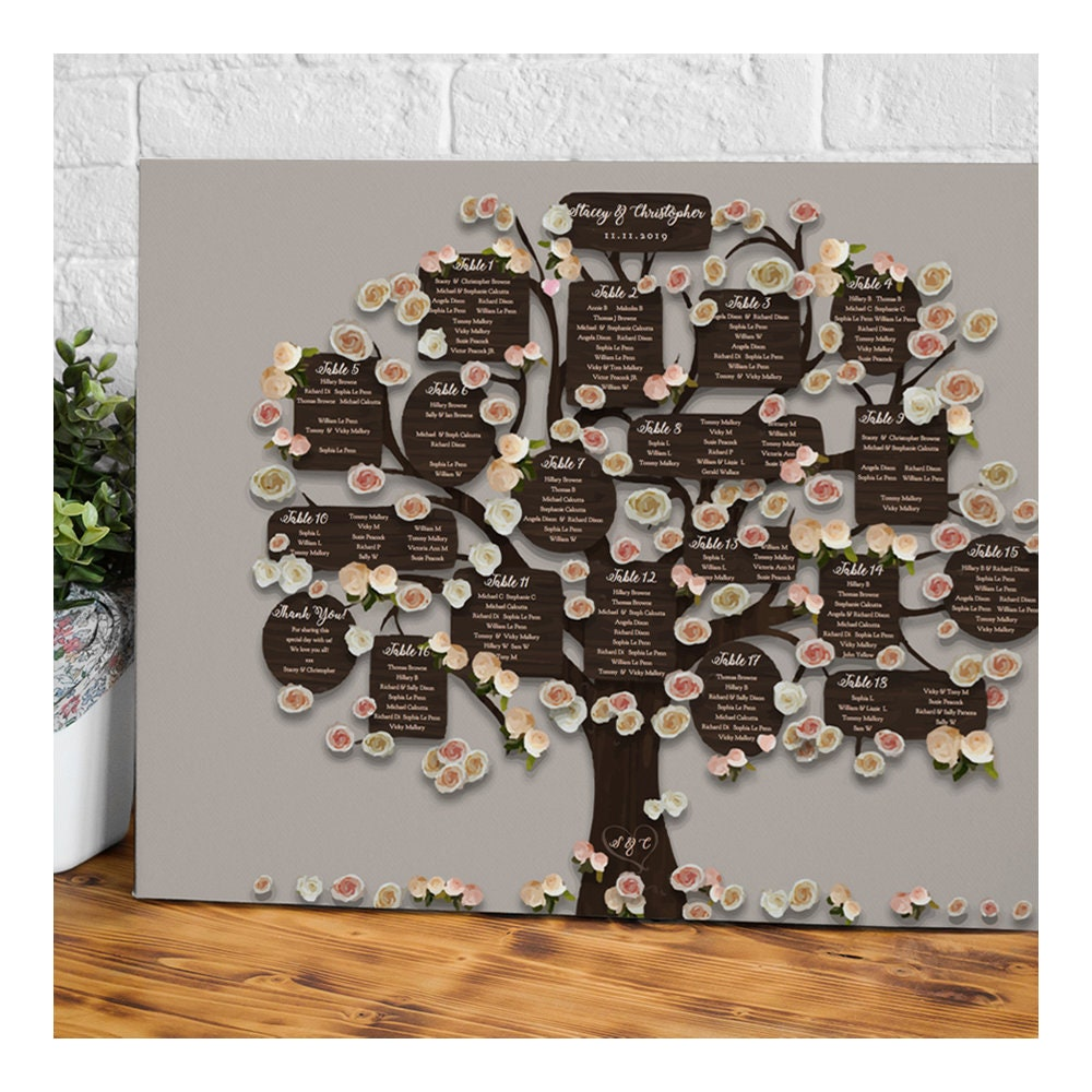 Wedding Tree Table Plan DIY Printable Tree Seating Plan