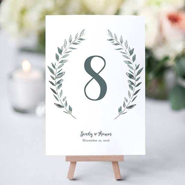 rustic wreath wedding table numbers template printable numbers