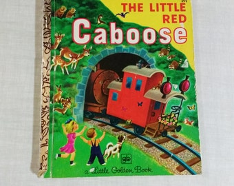 """Little Golden Book 319 """"The Little Red Caboose"""" by Marian Potter"""