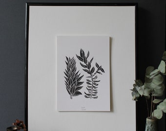 Found, Original Linocut Print