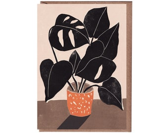 Plant Greeting Card - Art Card - Still Life - Birthday Card - Monstera - House Plant Card