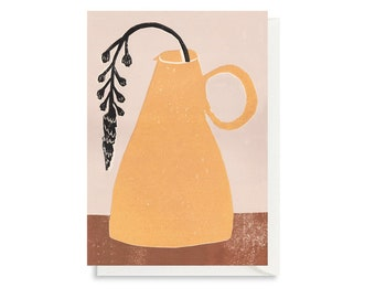 Art Card - Greeting Card - Still Life - Birthday Card - Houseplant - Flower - Jug