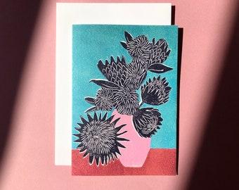 Art Card - Greeting Card - Still Life - Birthday Card - Plant - House Plant Card - Flowers - Floral