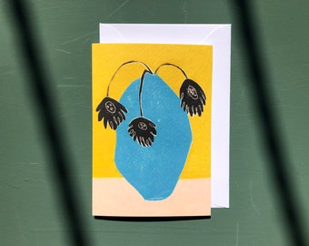 Art Card - Greeting Card - Still Life - Birthday Card - Plant - Flower Card - Flowers - Floral - Wonky