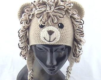 Crochet lion hat,Crochet animal hat,Crochet kids hat,Crochet fun hat,Crochet lion