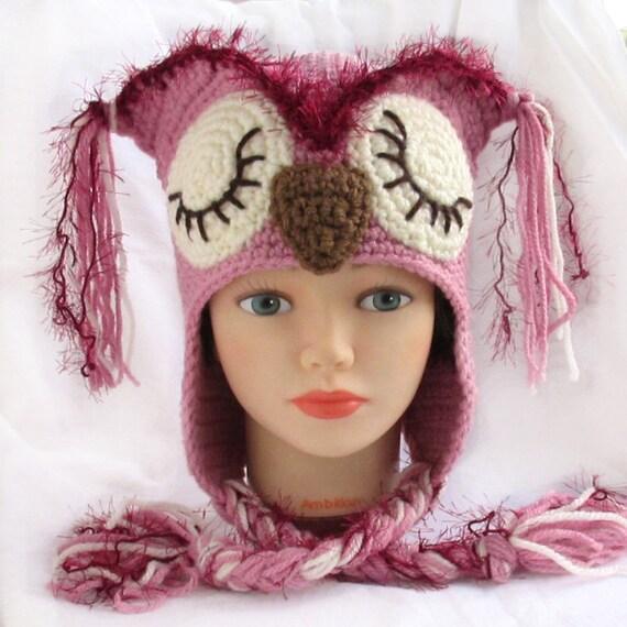 Häkeln Sie Hut Tier Hut häkeln häkeln Rosa Hut Kind   Etsy