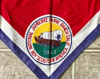 1953 Boy Scouts Bandanna National Jamboree Irvine California BSA Vintage bandana