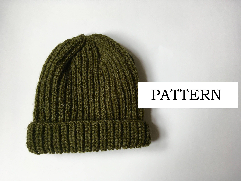 Mock Fisherman\'s Rib Beanie Knitting Pattern | Beginners Knitting ...