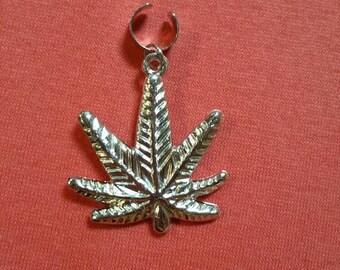 Dreadlock weed cuff bead