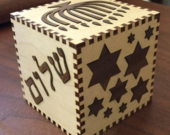 Hanukah Puzzle Box can be personalized to make it The Perfect Gift!