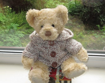 Ready To ShipPost Teddy Bear Clothes Handmade Rust Lined WaistcoatVest  With Brown Wooden Buttons To Fit A 16 To 17 Inch Bear