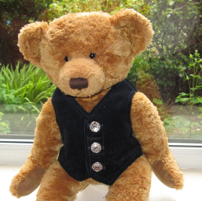 9f08bff3c68 Teddy Bear Clothes Handmade Dark Blue Corduroy Lined