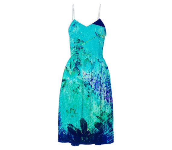 detailed look huge inventory yet not vulgar Impressionist Flowy Maxi Dress - Open Back Prom Dress, pretty Blue  Reception Dress, Pale Blue Sleeveless Sundress, Ariel Blue Cotton Dress