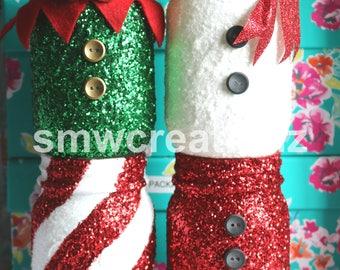 Christmas Mason Jar Set of 4 / Christmas Decor/ Farmhouse Christmas/ Home Decor/ Farmhouse Decor