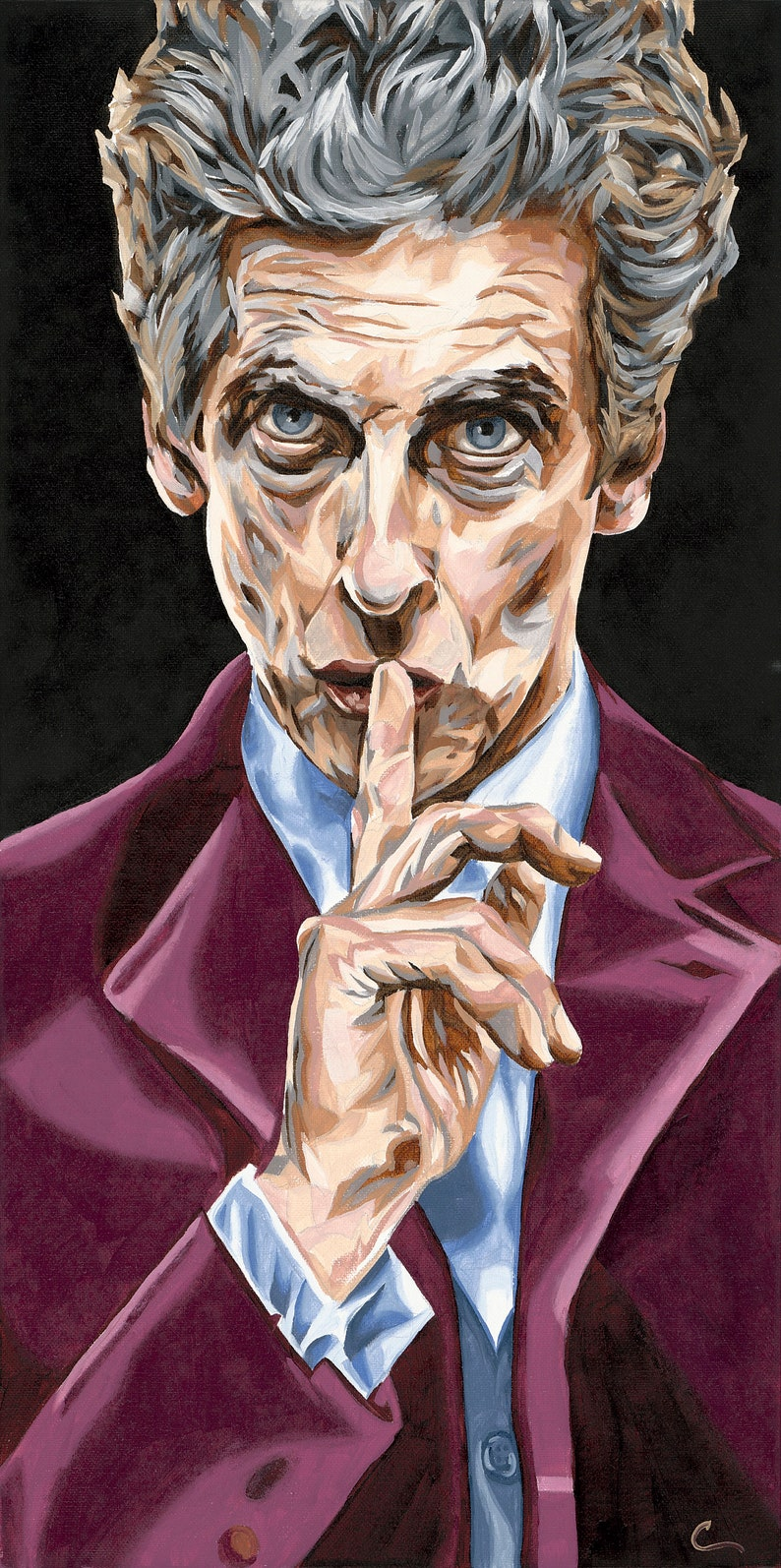Doctor Who The Twelfth Doctor Original Art Print 10x20 Etsy