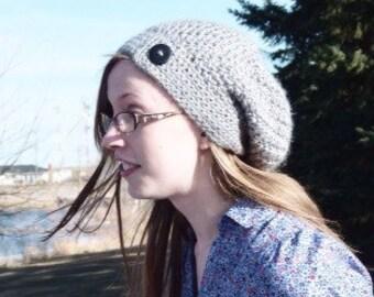 Crocheted Sandy Slouch Hat