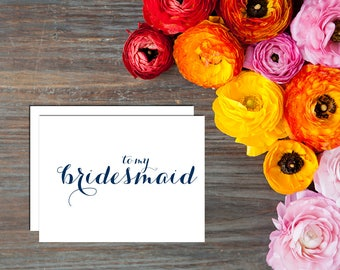 To My {Wedding Party} Thank You Card - Digital Handwritten Calligraphy