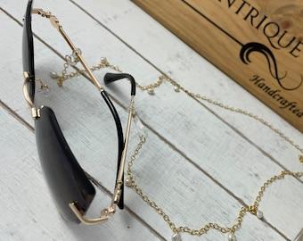 Eyeglass chain • sunglass chain • eyeglass cord • sunglass chain • eyeglass leash • sunglass leash • Eyeglass holder Sunglass holder Lanyard
