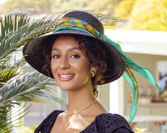 "Diamond-shaped Silk Scarf, Silk Hat Scarf, ""Architectonic Green"" Fractal Design, Silk Satin Narrow Scarf, gifts for women, hair scarf"