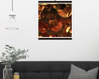 """Large Print, abstract Fractal Art, Giclée Print Wall Art Rolled and UNFRAMED, only one available, """"Magmatic"""""""