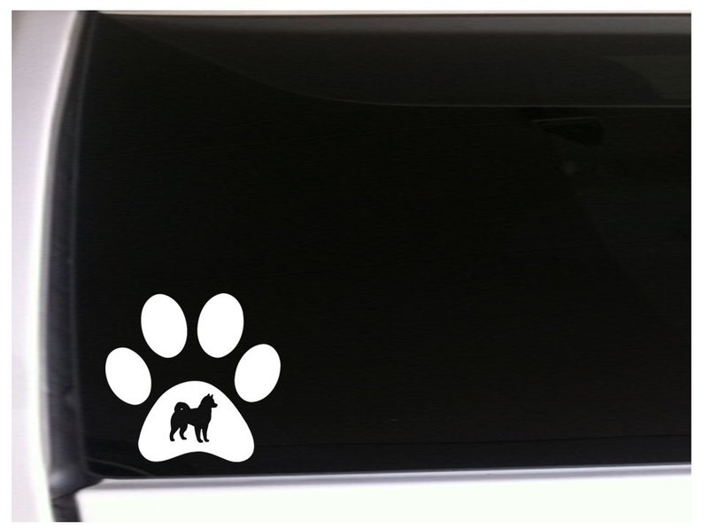 I LOVE MY HUSKY Vinyl Decal Sticker Laptop Pet Paw Dog