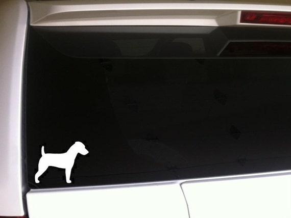 Etiqueta del vinilo perro en corazón//Sticker