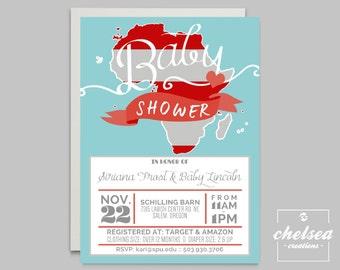 Adoption Baby Shower Invite