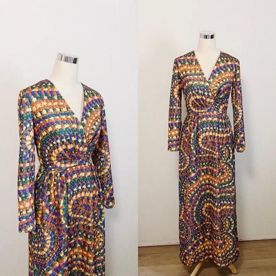 1970s Candy Swirl Deadstock Dress