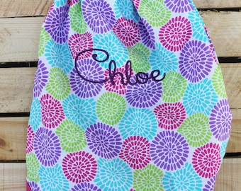 Drawstring Cinch Sack, Drawstring Backpack, Personalized Gym Bag