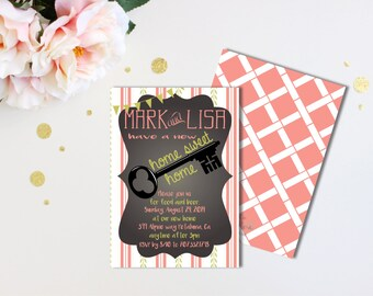 Key invitation etsy housewarming invitation printable or printed house warming invitation key invitation home invitation personalized invitation stopboris Choice Image