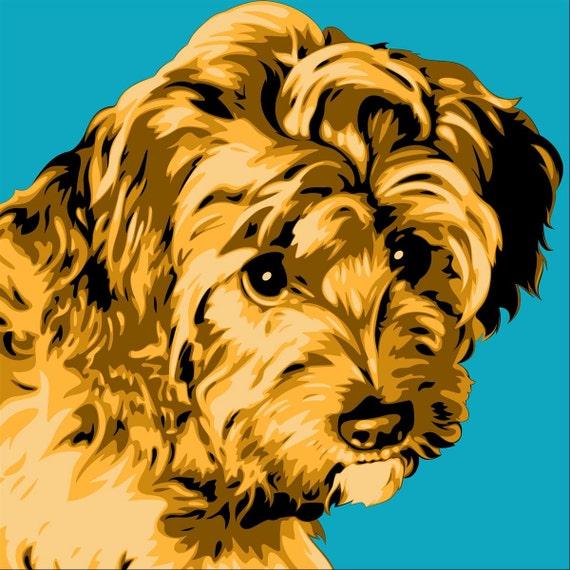 Portraits for Pets-Personalized Pet Portrait-Custom Dog Art-Custom Dog Portrait-Custom Pet Art-Dog Gift-Dog Artwork-Pet Portrait-Custom Gift