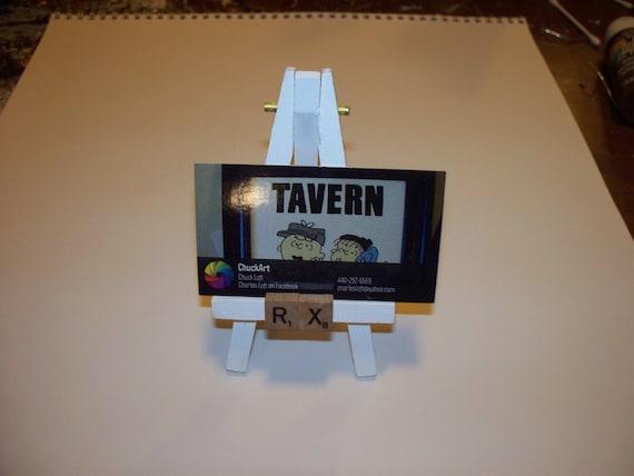 Mini Art Easel Visitenkartenhalter Rx Apotheker