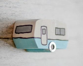 Caravan Refrigerator Magnet. 3 Styles. 45 Colour Options. Handmade to Order.