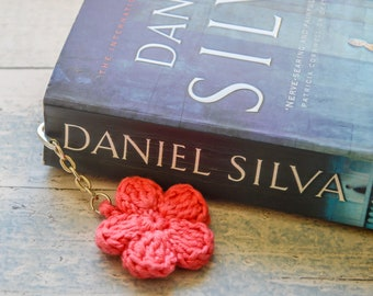 Flower Petals Hook Bookmark. 120 Colour Options. Handmade to Order.