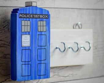 Dr Who Tardis Plank Key Rack. Handmade to Order.