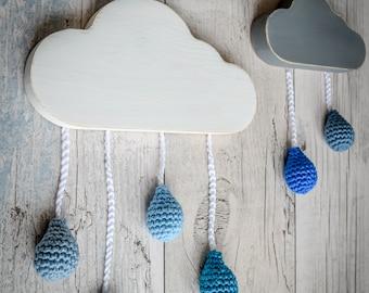 Rain Clouds Wall Art. 90 Colour Options. Handmade to Order.