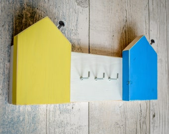 House Shapes Plank Key Rack. 4 Styles. 90 Colour Options. Handmade to Order.