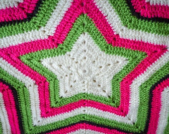 Star Shaped Baby Blanket. 45 Colour Options. 95x95cm (37.40x37.40in) Handmade to Order.