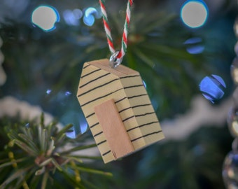 Garden Shed Christmas Tree Hanger. 90 Colour Options. Handmade to Order.