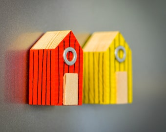 Beach Hut Refrigerator Magnet. 90 Colour Options. Handmade to Order.
