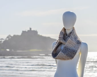 Chunky Coffee Bean Infinity Scarf. 59 Colour Options. Handmade to Order.